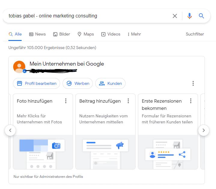 Google Eintrag aus der Google-Suche ändern