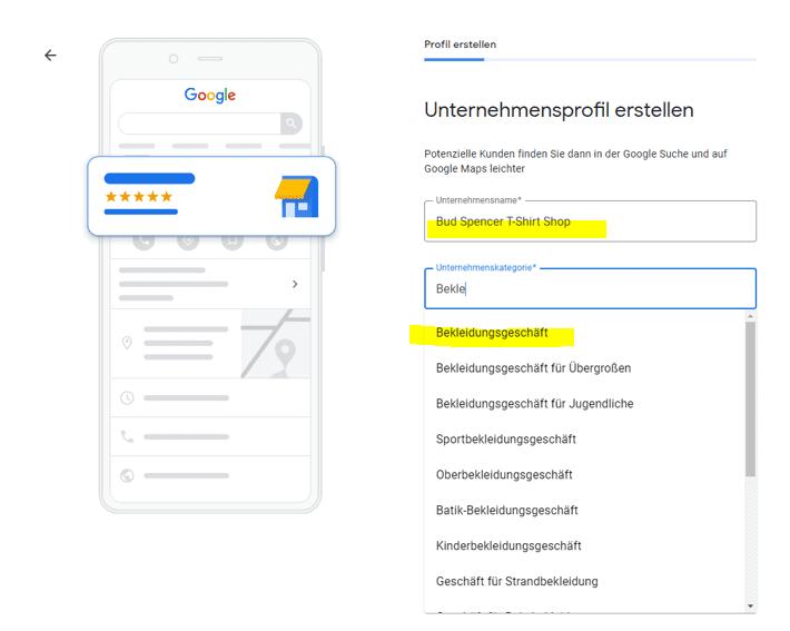 Unternehmen bei Google eintragen