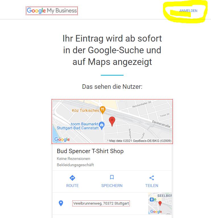 Gewerbe bei Google eintragen