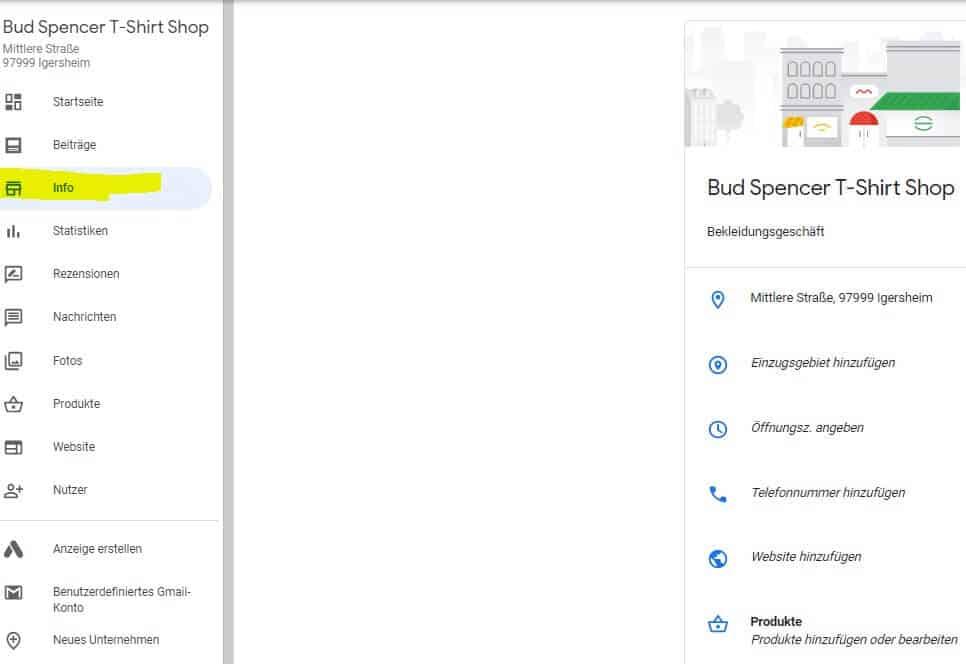 Google Eintrag über Google My Business ändern