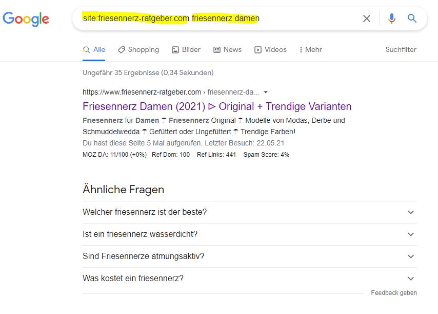 site-abfrage-google-url-keyword